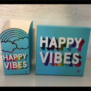 Happy Vibes with Rainbow Letters